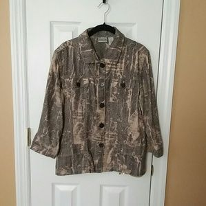 Chico's Snakeskin Pattern Jacket